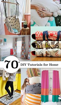 Time to change your home decoration to bright for Spring. Here is a great roundup shared by andreas notebook to DIY sew projects for the entire home from kitchen, to bedroom to bathroom, including some no sew projects. Great for our sew lovers to follow up.Make curtains for your windows Make throw pillows for your sofas, chairs and beds. Make comfortable seats for lounging. Sew for your kitchen. Make a hanging chair. Make roman shades. Sew a unique shower curtain