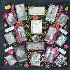 A family history crazy quilt - Stitching With Attitude: TRINITY - The story behind the blog background photo