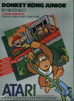 Donkey Kong Jr Cartridge New 800 XL XE Atari Small Box | eBay