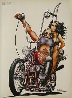 Old School Biker Art | the old school flathead 80 and simplicity of the art just nails it ...