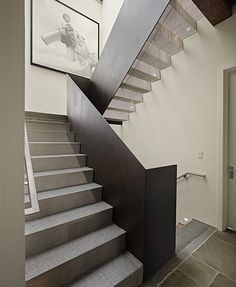 | STAIRS | lovely stair detail. Mesh metal with light transfer - Interior By: DeForest Architects #stairs