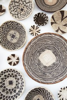 African basket wall art installation created from baskets I gathered in Zambia, South Africa, Namibia, and Botswana- inspo 4 ceramics