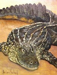 """Alligator in oils"" - Original Fine Art for Sale - © Barbara Haviland"