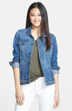 CJ by Cookie Johnson 'Trust' Classic Denim Jacket available at #Nordstrom 8% stretch Han!!