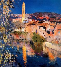 Choose your favorite barcelona paintings from millions of available designs. All barcelona paintings ship within 48 hours and include a money-back guarantee. Urban Landscape, Landscape Art, Landscape Paintings, Spanish Painters, Spanish Artists, Impressionist Paintings, Impressionism, Barcelona, Traditional Paintings