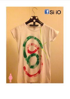 T-shirt Si iO - Dipinta a mano- Italian Style