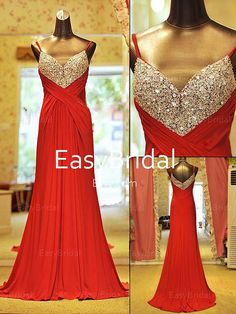Long party dress/long evening gown/prom gowns/formal dresses/maxi dresses/long dress with straps on Etsy, $119.99