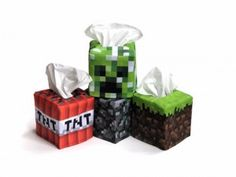 Minecraft tissue boxes