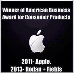 Apple in 2011...Rodan + Fields in 2013... Christine Martin, Foxy Moxy https://foxymoxy.myrandf.com