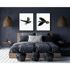Bird Print Set of Prints Wall Set,Photography Prints,Bird Flying Prints,Minimalist Printable What is Decoration? Decoration is the art of … Romantic Bedroom Decor, Home Decor Bedroom, Modern Bedroom, Bedroom Ideas, Dark Bedroom Walls, Mens Room Decor, Men Home Decor, Black Bedrooms, Gothic Bedroom
