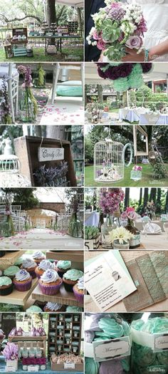 Love all of these decor ideas for wedding Wedding Ideias, Diy Wedding, Rustic Wedding, Dream Wedding, Wedding Vintage, Vintage Theme, Vintage Party, Purple Wedding, Wedding Colors