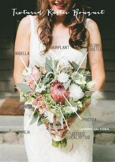 Textured Rustic Bridal Bouquet Recipe | Simply Peachy Wedding Blog