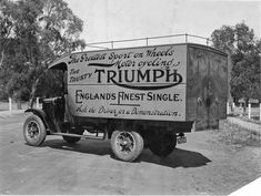 Triumph Truck - Old Trucks - Indian Motorcycles, Triumph Motorcycles, Triumph Motorbikes, British Motorcycles, Triumph Bonneville, Cars And Motorcycles, Triumph Logo, Triumph T120, Vintage Motorcycles
