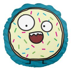Crazy Donut Round Pillow