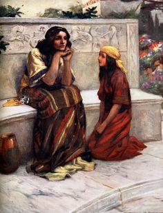 naaman  Paintings | Bible Stories Naaman