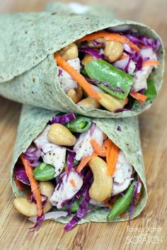 Chicken Cashew Crunch Wraps from TastesBetterFromScratch.com