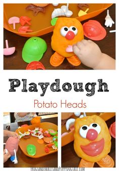 Use playdough and potato head people for this fine motor activity! Educational Activities For Preschoolers, Fine Motor Activities For Kids, Playdough Activities, Learning Activities, Preschool Activities, Mr Potato Head, Potato Heads, Play Doh Fun, Play Dough