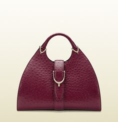 omg awesome! gucci stirrup ostrich top handle bag