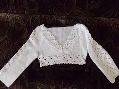 Love Crochet, Knit Crochet, Bikinis Crochet, Bell Sleeve Blouse, Cotton Style, Crochet Clothes, Crochet Projects, Blouses For Women, Knitting Patterns