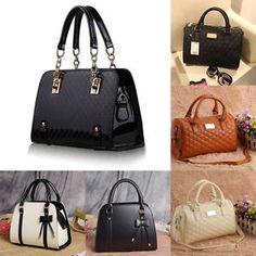 486c2f73d6 Women Leather Handbag Shoulder Bag Ladies Purse Tote Messenger Satchel  Crossbody Fashion Handbags