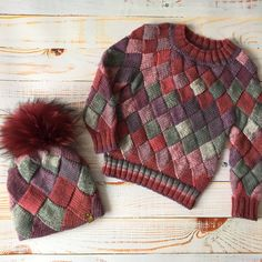 Детский набор Hand Knitted Sweaters, Mohair Sweater, Sweater Knitting Patterns, Hand Knitting, Knitted Hats, Crochet Patterns, Mens Clothing Styles, Knitwear, Knit Crochet