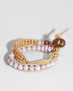 Lena Bracelet - Lavender/Gold