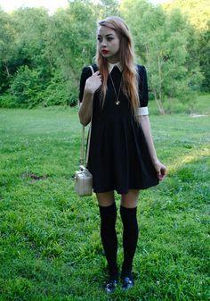 This dress is so flippin' cute!  Grunge Style - Babydoll Dress - kinderwhore ~ Cultura es Disenio