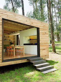 Modern-Minimalist House Prototype by Luis Roldan Velasco and Angel Hevia Antuna… Modern Minimalist House, Minimalist Decor, Minimalist Interior, Minimalist Style, Minimalist Bedroom, Tiny House Design, Modern House Design, Patio Sun Shades, Patio Shade