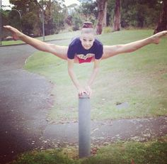 This girl is making me feel inflexible. And I'm a gymnast!!!!!