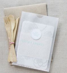 Craft paper envelope vellum sleeve