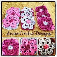 Annoo's Crochet World: Field of Purples Flower Granny