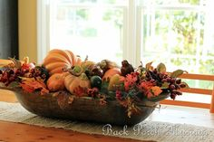 Love this dough bowl arrangement!
