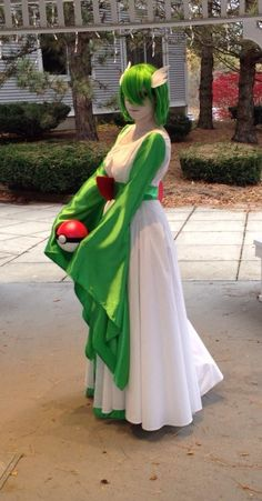 My Gardevoir Cosplay finally finished! Bakuretsucon 2013 Vermont Cosplay - by me Dress - Made by me and my friend Belt - Made by me and my friend, wide elastic, cardboard and fabric, and snaps. Mak...