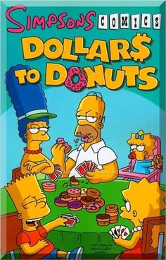 Simpsons Comics Dollars to Donuts (Simpsons Comics Compilations) by Matt Groening 0061436976 9780061436970 Vintage Disney Posters, Vintage Cartoons, 90s Cartoons, Room Posters, Poster Wall, Poster Prints, Bedroom Wall Collage, Photo Wall Collage, Picture Wall