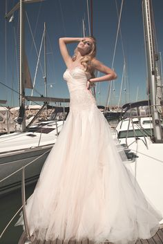 Impossibly glamorous wedding dress collection & shoot - St Tropez style