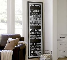 15x49 or 24x85 Chicago Sign Framed Print #potterybarn