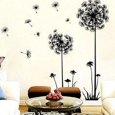 Creative Dandelion Wall Art Decal Sticker Removable Mural PVC Home Decor Freeshipping Kimisohand