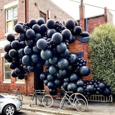 | ❤️Re-pinned w/love by❤️#savoirclaire❤️ | Shared by Carla Large Balloons, Black Balloons, Up Balloons, Balloon Wall, Balloon Garland, Balloon Arch, Balloon Decorations, Celebration Balloons, Balloon Installation