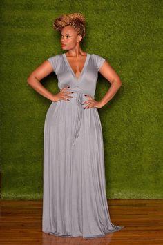 cap-sleeved v-neck dress Whitney Mero