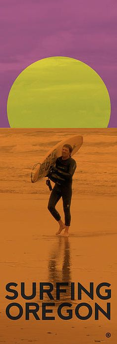 Surfing Oregon, you should notice he has on a wetsuit?