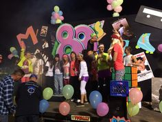 80's Homecoming Float