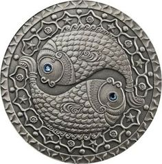Coin: Belarus 2009 Pisces Sign Of The Zodiac 20 Rubles Silver Synthetic Crystals Unc - Financializer Store Pisces Sign, Pisces Zodiac, Zodiac Signs, Zodiac Art, Astrology Tattoo, Astrology Chart, Bullion Coins, Silver Bullion, World Coins