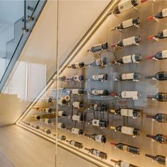 Wine Post by Hafele – Advance Design & Technologies Inc Wine Cellar Modern, Glass Wine Cellar, Home Wine Cellars, Wine Rack Wall, Wine Wall, Wine Racks, Under Stairs Wine Cellar, Cellar Design, Wine Display
