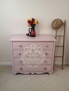 ... stenciled, dresser by Furniture Alchemy, shabby chic, changing table