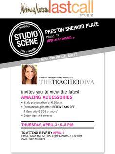 Join Me + Last Call Studio, Dallas | The Teacher Diva @Last Call