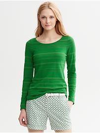 Shadow-Stripe Pullover