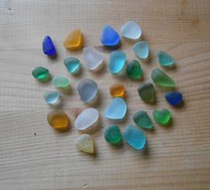 Vetro di mare multicolor mix seaglass26 pezzi di lepropostedimari