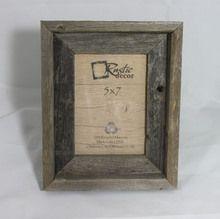 5x7 Reclaimed Wood Signature Frame