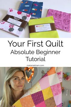 Great Free of Charge beginner Sewing projects Tips Learn how to make your first quilt for absolute beginners with quilting instructor Melanie Ham. Quilting Tips, Quilting Tutorials, Quilting Projects, Sewing Tutorials, Quilting By Hand, Hand Quilting Designs, Baby Quilt Tutorials, Sewing Machine Projects, Art Quilting