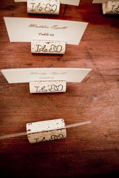 seating cards with wine corks